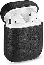 Pierre Case AirPod Case Protective Cover Leather, Apple AirPods Cases Cover Leather for Apple AirPod 1 & 2 Case(Black)