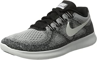 Nike Womens Free RN 2017 Running Shoe, Wolf Grey/Off White-Pure Platinum-Black (Size 9.5)