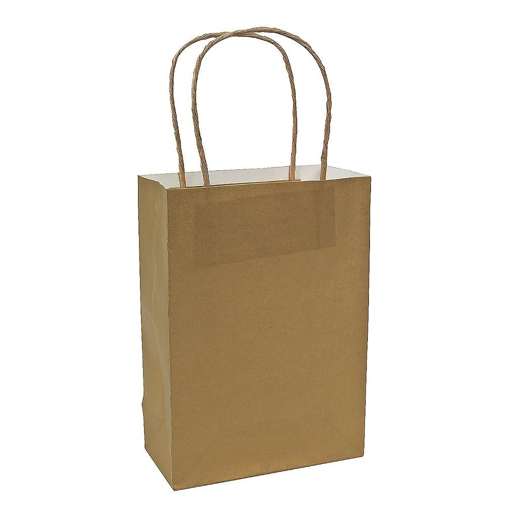 Gold Medium Craft Bags (Gold Medium Craft Bags) 12 Pack