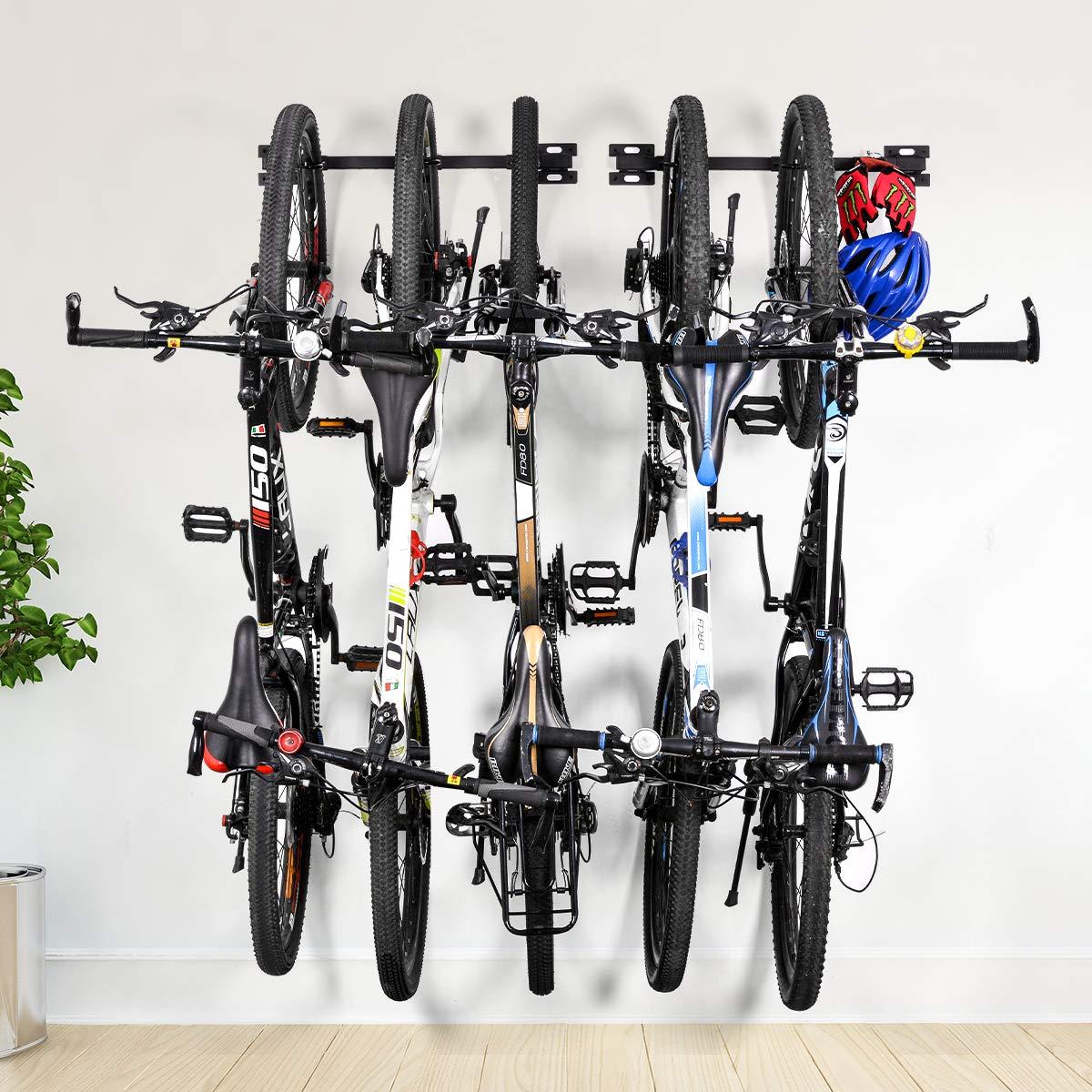 ikkle Soporte para Bicicletas Plegable de Montaje Directo Soporte de Almacenamiento para Bicicletas Soporta 5 Sistemas de Almacenamiento para Garaje Ajustable para el hogar y el Garaje: Amazon.es: Electrónica