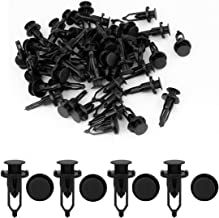 uxcell 50 Pcs 9mm Hole Retainer Clips Plastic Drive Rivets Mud Flaps Bumper Fender Push Clips 52161-02020 for Toyota