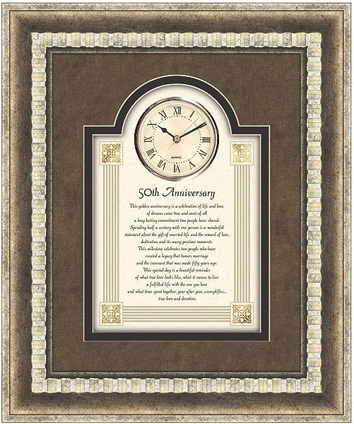 CB 礼物衷心收集大型 3D 挂钟 15X18 英寸 50 周年纪念