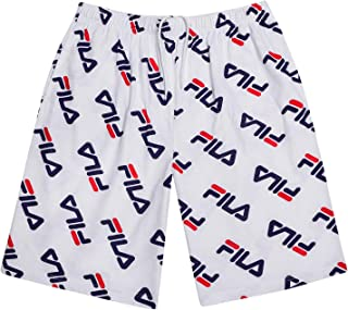 Fila Men Big and Tall Print Cotton Jersey Athletic Lounge Gym Shorts for Men