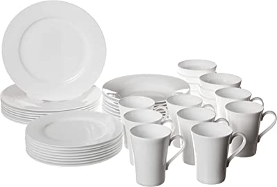 Mikasa Lucerne White 40-Piece Dinnerware Set, Service for 8