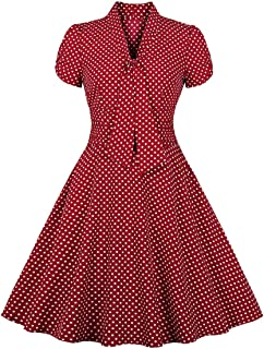 c3cc0e677a24 Nihsatin Women s Audrey Hepburn Vintage Style Rockabilly Swing Dress