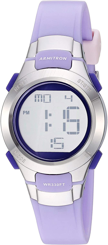 Armitron Sport Superior Women's Digital Chronograph Strap Resin Max 50% OFF Watch 45