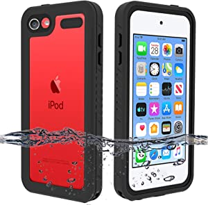 BESINPO Waterproof Case for iPod Touch 7 / iPod Touch 6 / iPod Touch 5, 360 Full-Body Built-in Screen Protector Dustproof Shockproof Snowproof Case for iPod Touch 5th/6th/7th Generation for Snorkeling