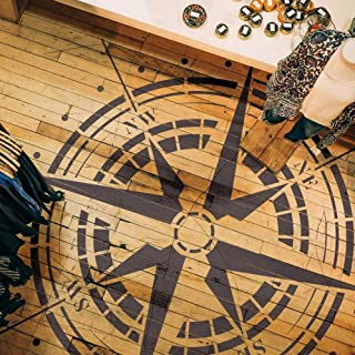 Traveler- Compass Rose Stencil - Reusable Stencil for Painting - 382_20
