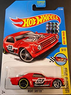 Mattel Hot Wheels Legends of Speed - Night Shifter (Red) - Includes Factory Sealed 2017 Sticker on Card!
