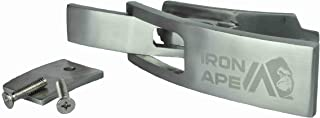 IRON APE Strong and Durable Stainless Steel Replacement Lifting Belt Lever Buckle for Weightlifting and Powerlifting Belts - Fits 10mm and 13mm Belts