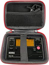 Carrying Hard travel case bag for Korg TM-50 Tuner Metronome Recorder and Clip on Microphone