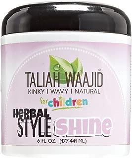 Taliah Waajid Herbal Style & Shine For Natural Hair, 6 oz