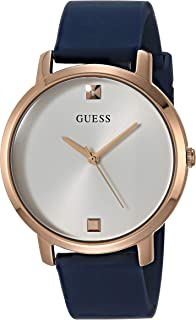 GUESS Womens Quartz Watch, Analog Display and Silicone Strap GW0004L2