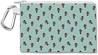 Kawaii Little Ninjas Canvas Zip Pouch - Multi Purpose Pencil Case Bag
