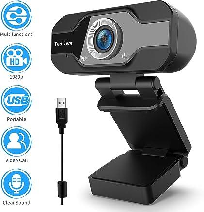 TedGem Webcam, Webcam 1080p, PC Webcam con Microfono Full HD Webcam USB Webcam Streaming Webcam per videochiamate e Registrazione, Piccola/Flessibile/Regolabile, Supporta Windows, Android, Linux - Trova i prezzi più bassi