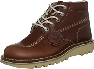 #Kickers Kick Hi Core Dark Tan Leather Mens Boots