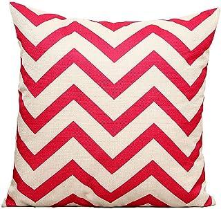 Simple Wavy Linen Sofa Pillow Striped Bedside Cushion Office Waist Support Car Waist Pillowsize45*45