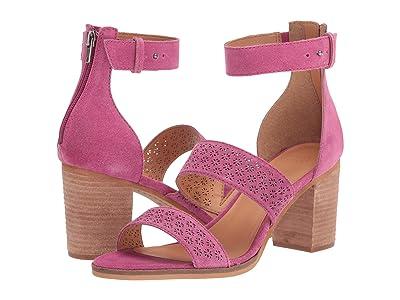 FRYE AND CO. Bryn Perf Sandal (Magenta Suede) High Heels