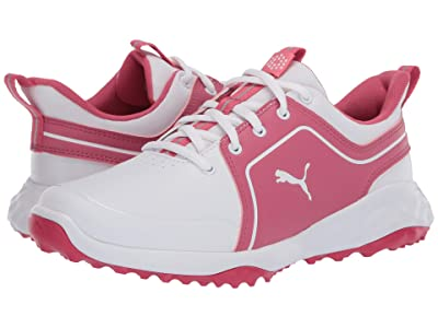 PUMA Golf Grip Fusion 2.0 (Big Kid) (Puma White/Rapture Rose) Shoes