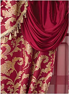 Carol Wright Gifts All-in-One Curtain Set, Burgundy, Size 56