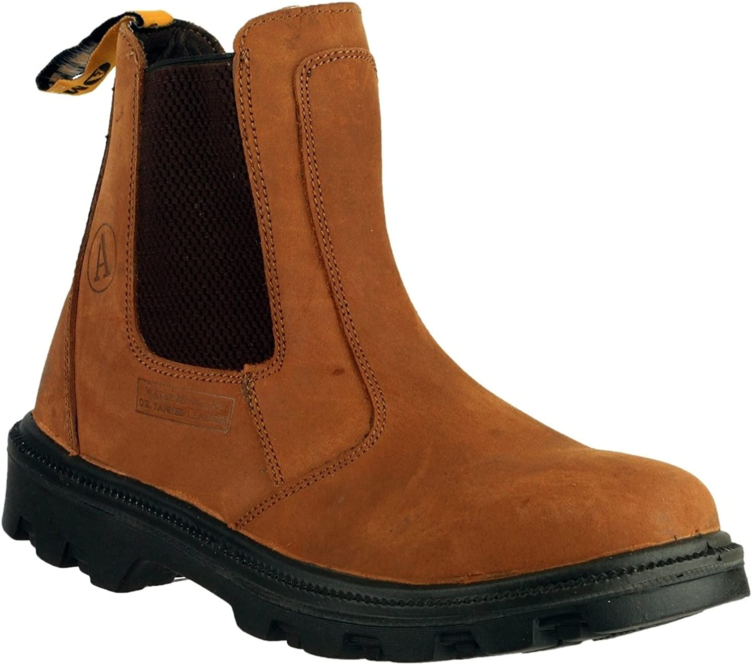 Mens Amblers Brown Waxy Safety Toe Cap Work Dealers Boots Sizes 6 7 8 9 10 11 12