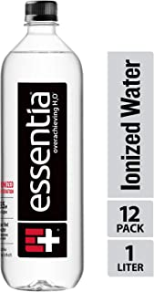 Essentia Water, Ionized Alkaline Bottled Water; Electrolytes for Taste, Better Rehydration, pH 9.5 or Higher, 33.8 Fl Oz, Pack of 12
