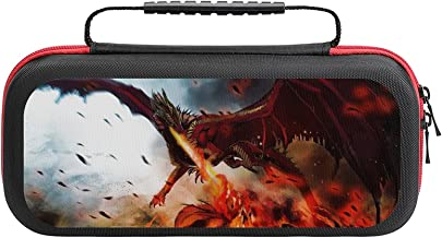 $22 » Dragon Monster Wings Fire Game Bag Switch Travel Carrying Case for Personalized Design Switch Lite Console and Accessorie...