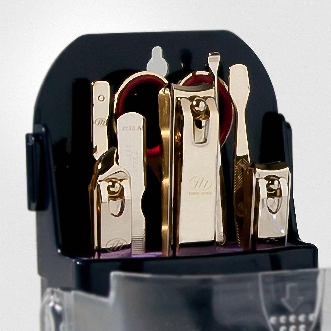 修理工世界記録のギネスブック今【 三セブン】THREE SEVEN TS-095 Manicure Set 三セブンTS 095マニキュア セット (2.Gold) [並行輸入品]