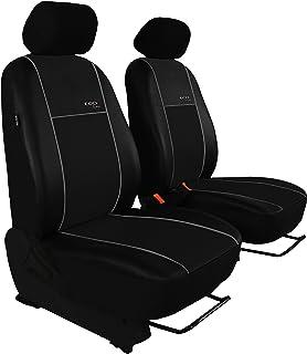 POK TER BUS Sitzbezug Set Passend für Vito 447 (Fahrersitz + Beifahrersitz). Design Kunst Line. Hier mit Grauer Lamelle