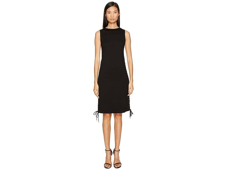 McQ Eyelet Long Dress (Black) Women