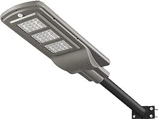 LOVUS 60W Solar Street Light Waterproof IP65 Polycrystalline Silicon LED Solar Flood Outdoor Lighting Fixture Super Bright Stable Performace with Radar Motion Sensor Sunlight Control, ST60-010