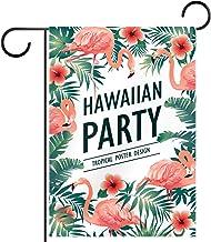 """Tuin Vlag Verticale Dubbelzijdige 28x40 """"Yard Outdoor Decoration.hawaii een partij poster tropische vogels"""