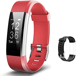 Lintelek Fitness Tracker with Heart Rate Monitor, Activity Tracker with Connected GPS, IP67 Waterproof Smart Fitness Band ...