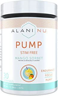 Alani Nu Pump Stim Free - Mango Sorbet - 30 Servings