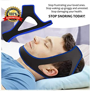 Snore Stopper Chin Strap, Resmed Cpap Supplies Chin Straps, Anti Snore Snoring Chin Strap Devices for Men Women Kids, Anti Snoring Snore Chin Strap Large, Anti My Snoring Snore Solution