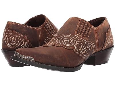 Durango Crush Embroidered Shoe Boot (Distressed Tan) Women