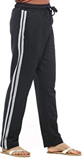 EASY 2 WEAR Womens Cotton Knitted Track Pant (Sizes S to 4XL) Full Length and Plus Sizes (Zip Pocket)(DK Grey)