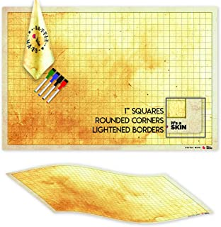 The Ultimate RPG Battle Game Mat for DND, Dungeons and Dragons Map Warhammer, Grid Table Top, Roleplay Games. 36