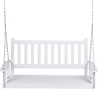 Shine Company 4216WT Maine Porch Swing, White