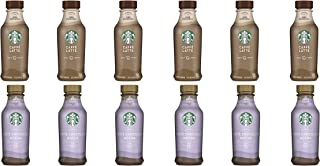 LUV BOX- Variety Starbucks Iced Latte Pack 14oz Plastic Bottle, 16ct,Caffe Latte Iced Espresso,White Chocolate Mocha Iced Latte
