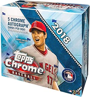 2018 Topps Chrome Baseball Hobby Jumbo HTA Box
