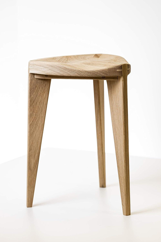 Three leg wood stool
