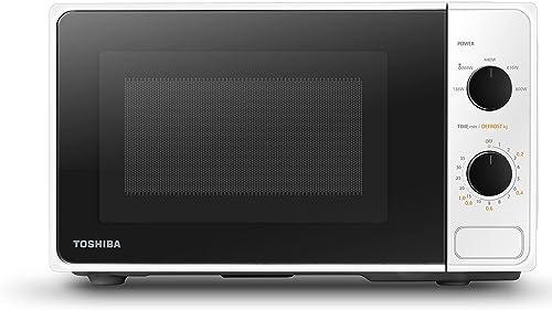 Toshiba MM2-MM20PF (WH) Micro-ondes Entièrement Fonctionnel avec 5 Niveaux de Puissance, Décongélation Facile, 20 L, ...