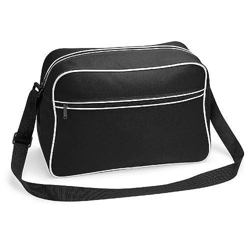 8d95ed2f6f28 Bagbase Zip Front Pocket Retro Contrast Messenger Stylish Shoulder Carry Bag
