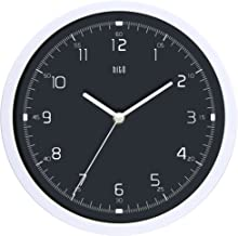 hito Silent Wall Clock Non Ticking 10 inch Excellent Accurate Sweep Movement Glass Cover, Decorative for Kitchen, Living Room, Bathroom, Bedroom, Office (Gray#4)