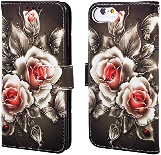 Povinmos Flip Leather Card Wallet Case Cover Compatible for iPhone 8/7/6S/6