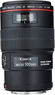 Canon EF 100mm F/2.8 Prime Lens for Canon DSLR Camera