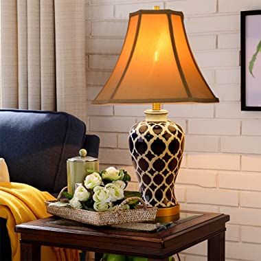"""Tootoo Star Antique Octagonal Royal Bell Lamp Shade for Floor Lampshade and Table Lamp,(6.3x6.3)x(13x13)x10.8"""",Antique Go"""