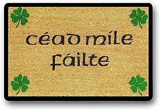 BXBCASEHOMEMAT Céad Míle Fáilte Doormat, A Hundred Thousand Welcomes Doormat, Custom Doormat, Door Decor, Irish Doormat, S...