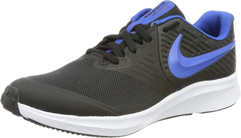 Nike Boy's Training Gymnastics Shoe, Black Game Royal White, UK 2/US 00